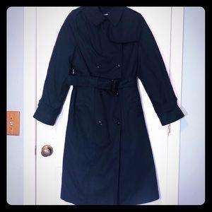 Women's | Black | Long Trench Coat | Size 12